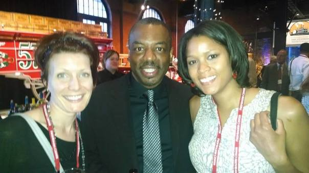 Amanda Armstrong from the TEC Center & I got to hang out with LeVar Burton near the retro ketchup truck.