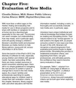 Evaluation of New Media